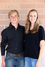 Freshman Duke Evan Dickenson and Duchess Sydney Herrick.