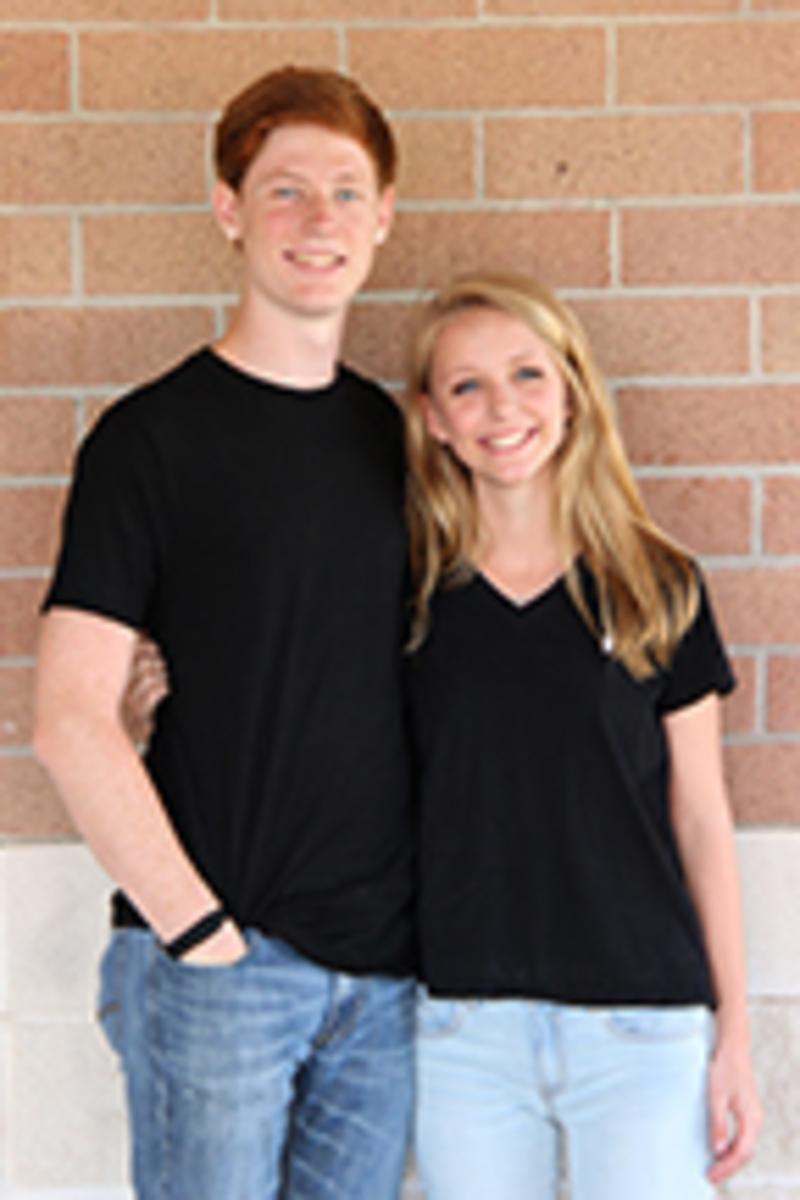 Senior nominees Evan Rosenthal and Mia Trautz.