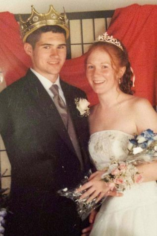 Anatomy and Physiology teacher Adam Babich at his prom after being crowned Prom King. Photo courtesy of Adam Babich.