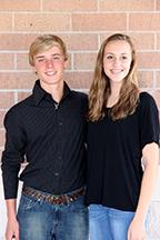 Freshman Duke Evan Dickenson and Duchess Sydney Herrick.