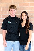 Senior nominees Brian Edwards and Alyssa Cepeda