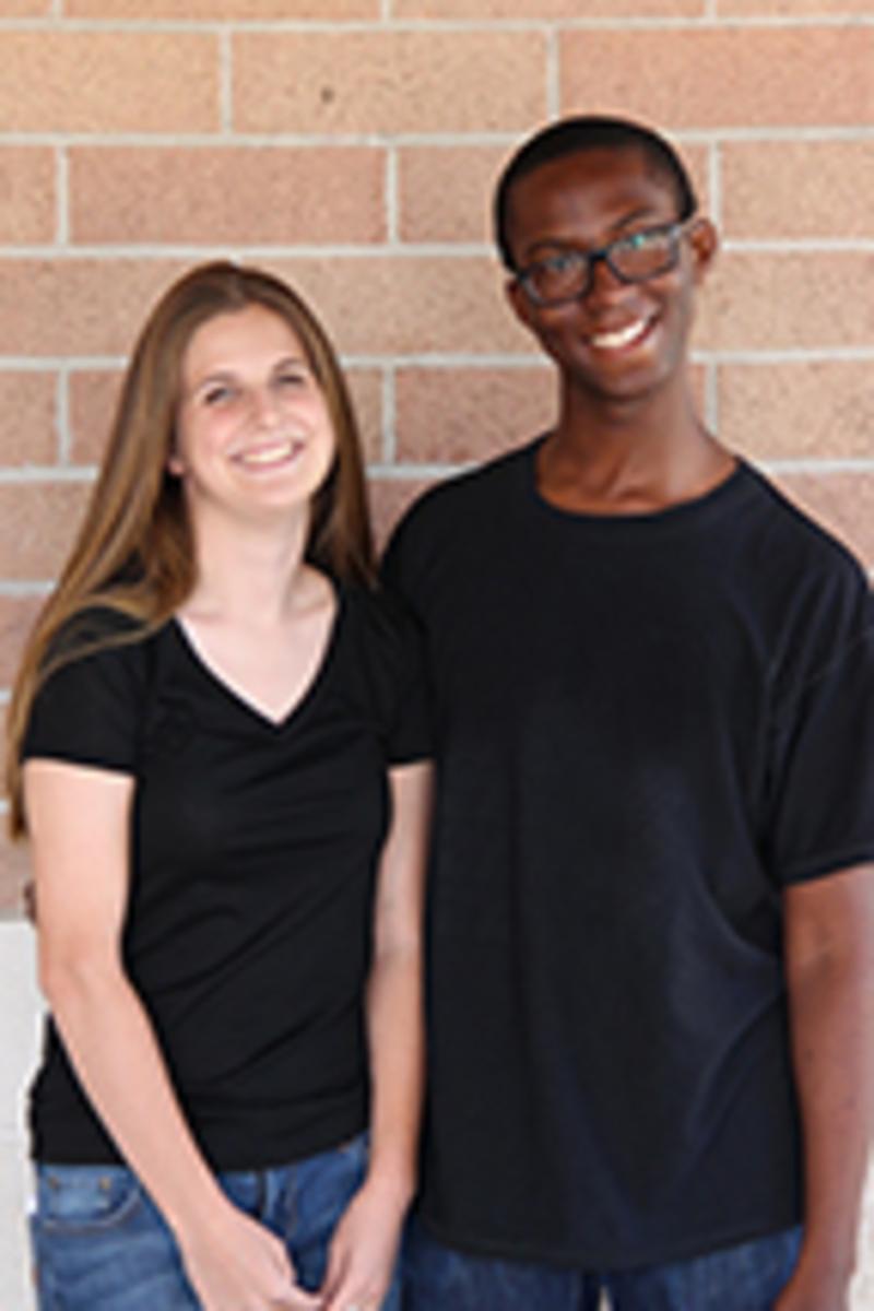Senior nominees Rachel Freeman and Godson Iheanacho.